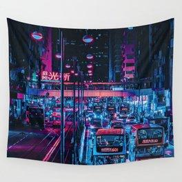 Cyberpunk Hong Kong Wall Tapestry