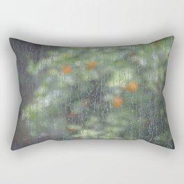 Rainy Oranges Rectangular Pillow