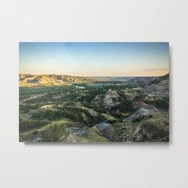 Sunset in the North Dakota Badlands Metal Print