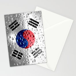 Flag of South Korea - Raindrop Stationery Cards