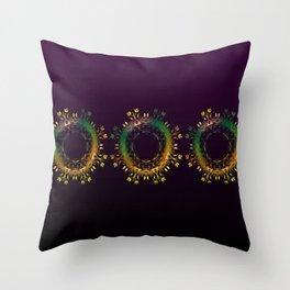 Fantasy Circle (Purple) Duvet Throw Pillow