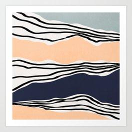 Modern irregular Stripes 08 Art Print