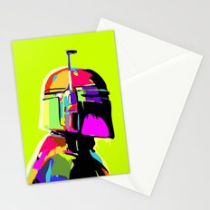 Boba Fett Abstract Star.Wars Pop Art Painting Stationery Cards