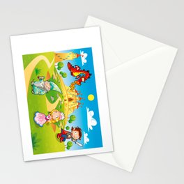 Medieval Age - Princess, Prince, Dragon, Magician. Stationery Cards
