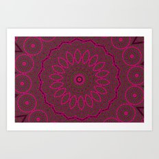 Lovely Healing Mandalas in Brilliant Colors: Plum, Copper, and Pink Art Print