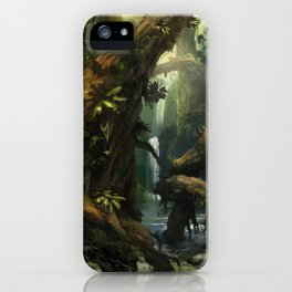 Realm of the Giant Trees | Concept Art Personal project iPhone Case