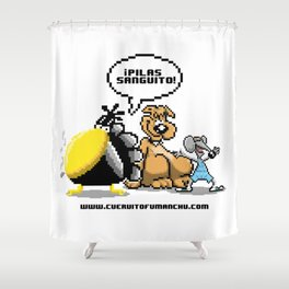 Cuervito Fumanchu - PIXEL EDITION Shower Curtain
