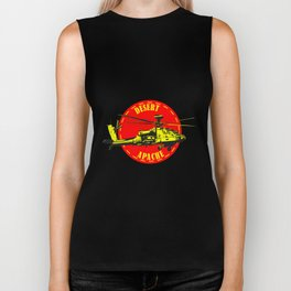 Apache Helicopter Biker Tank