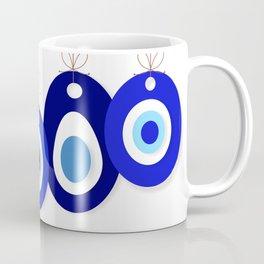 Evil eyes bead background vector Coffee Mug