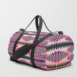Tribal Beat Geo Magenta Duffle Bag