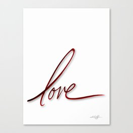 Velvet Love Canvas Print
