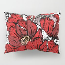 RED PEONIES PATTERN Pillow Sham