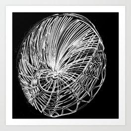 abstrato BW Art Print