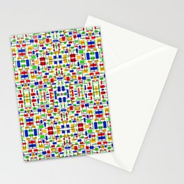 Mosaic Art Abstract Colorful Design Stationery Cards