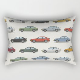 Ford Escort Mk3 XR3i - Car Print Rectangular Pillow