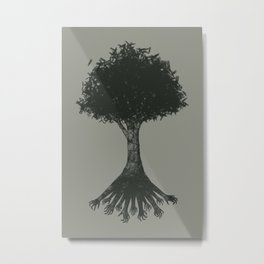 The Root Metal Print