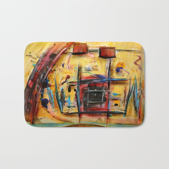 Acryl-Abstrakt 32 Bath Mat