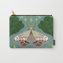 Patterned Moth Carry-All Pouch