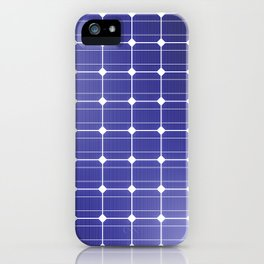 In charge / 3D render of solar panel texture iPhone Case