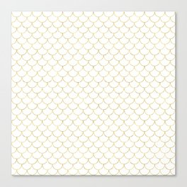 Mermaid Scales in Gold Canvas Print