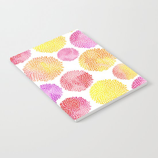 Yellow Red Purple Fireworks Notebook