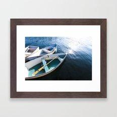 Winter Harbor Dory - Maine Framed Art Print