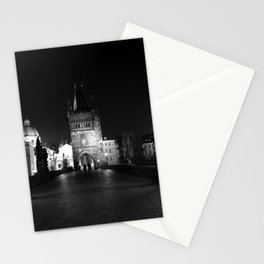 on the way black and white Stationery Cards