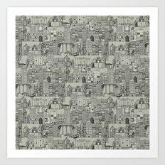 dystopian toile mono Art Print