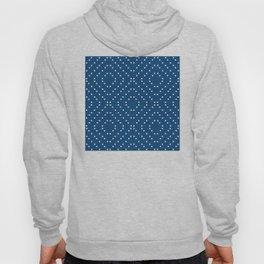 Geometric dots on classic blue Hoody