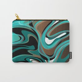 Liquify - Brown, Turquoise, Teal, Black, White Carry-All Pouch