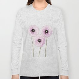 Delicate Poppies Long Sleeve T-shirt