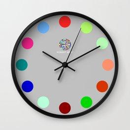 Robert Hirst Spot Clock Silver Wall Clock