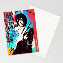 Rolling Stones pop art style Stationery Cards