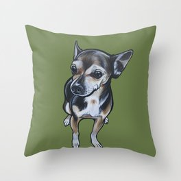 Artie the Chihuahua Throw Pillow