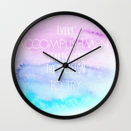 Accomplisment Wall Clock