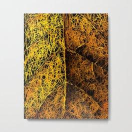 rotten yellow leaf texture Metal Print
