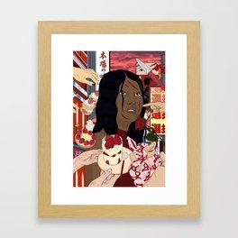 Red Jaapaan Framed Art Print