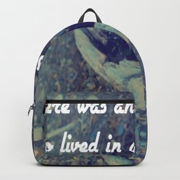 There was an old woman who lived in a shoe Backpack