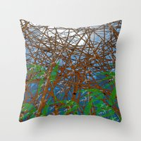 bamboo Throw Pillows featuring Bamboo by dominiquelandau