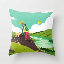 How to be Happy I Throw Pillow