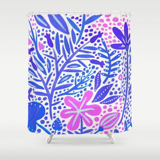 Garden – Indigo Palette Shower Curtain