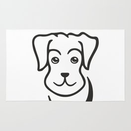 puppy, dog, cartoon, friend, pet, cutie Rug