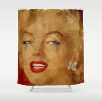 monroe Shower Curtains featuring Monroe by Ancello