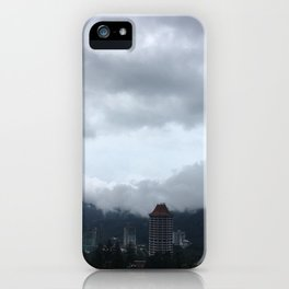 Beautiful clouds over the Malaysian city iPhone Case