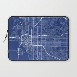 Tulsa Map, USA - Blue Laptop Sleeve