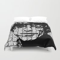 stephen king Duvet Covers featuring Stephen Hawking by Silvio Ledbetter