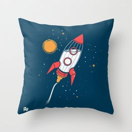 Bottle Rocket to the Milky Way Throw Pillow