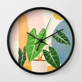 Colorful Branching Out 10 Wall Clock