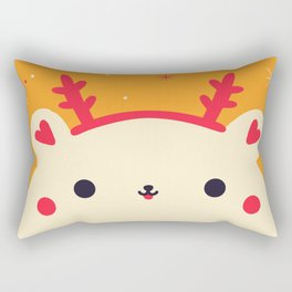 Merry Christmas Bear Rectangular Pillow