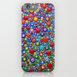 Colorful Dotart by Mandalaole - Spring flowers iPhone Case